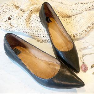 Frye Sienna Black Ballet Flat Shoe